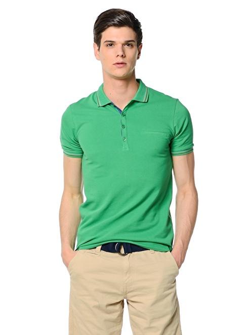 Adze Polo Yaka Tişört Yeşil